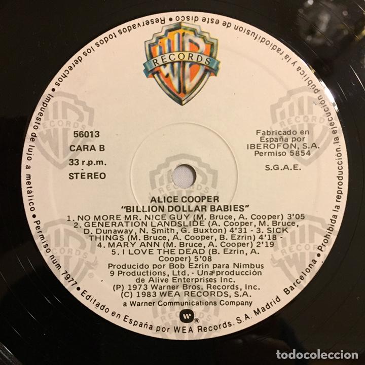 Discos de vinilo: ALICE COOPER - BILLION DOLLAR BABIES LP, REEDICIÓN, 1983, ESPAÑA - Foto 6 - 164378270