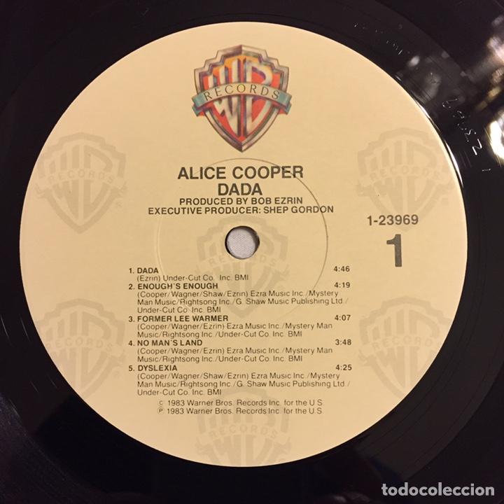 Discos de vinilo: ALICE COOPER - DADA LP, 1983, USA, PRIMERA EDICIÓN, OPORTUNIDAD!!! - Foto 8 - 164378506