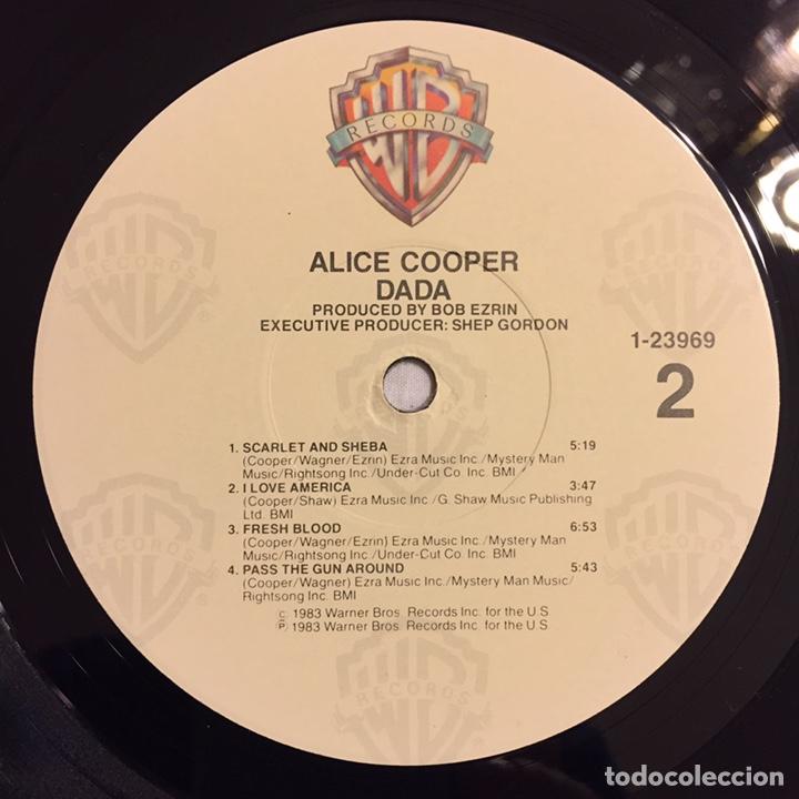 Discos de vinilo: ALICE COOPER - DADA LP, 1983, USA, PRIMERA EDICIÓN, OPORTUNIDAD!!! - Foto 9 - 164378506