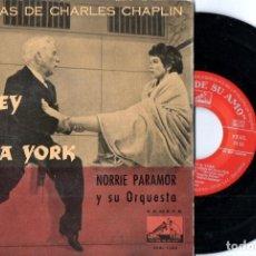 Discos de vinilo: MELODÍAS DE CHARLES CHAPLIN - UN REY EN NUEVA YORK (LA VOZ DE SU AMO). Lote 164416438
