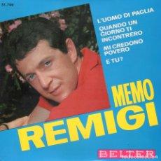 Discos de vinilo: MEMO REMIGI 1966 BELTER 51.708. Lote 3583049