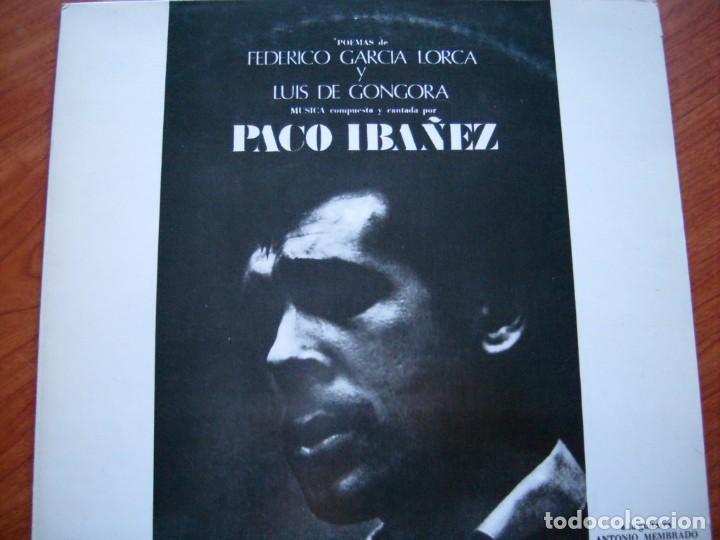 PACO IBÁÑEZ POEMAS DE FEDERICO GARCÍA LORCA Y LUIS DE GÓNGORA CONTRAPORTADA ILUSTRADA POR DALÍ 1970 (Música - Discos de Vinilo - Maxi Singles - Cantautores Españoles)