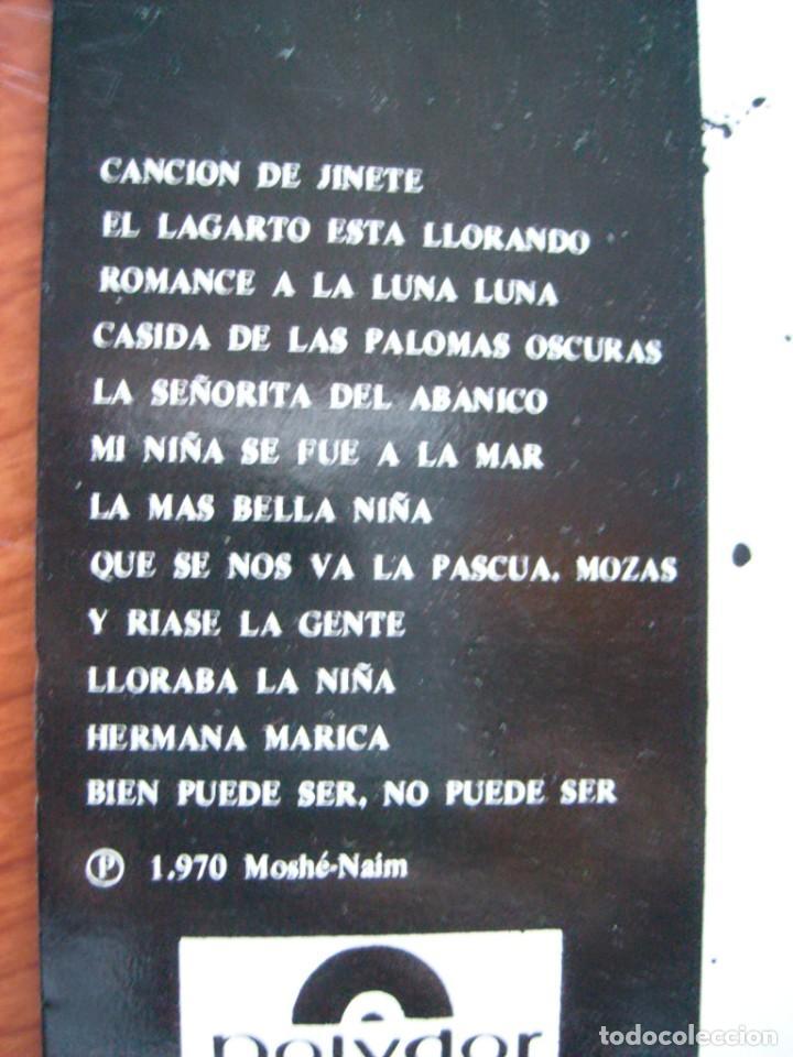 Discos de vinilo: PACO IBÁÑEZ POEMAS DE FEDERICO GARCÍA LORCA Y LUIS DE GÓNGORA CONTRAPORTADA ILUSTRADA POR DALÍ 1970 - Foto 2 - 164500158