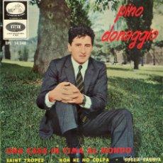 Discos de vinilo: PINO DONAGGIO 1966 LA VOZ DE SU AMO EPL 14.248. Lote 4343783