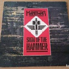 Discos de vinilo: LP MANOWAR SING OF THE HAMMER VIRGIN 1987. Lote 164527806