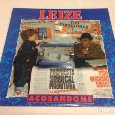 Discos de vinilo: LEIZE – ACOSANDOME --HEAVY METAL-HARD ROCK-EDICION 1991. Lote 164571706