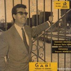 Discos de vinilo: EP 1960 - RICARDO GABI - ORQ. TÍPICA L´OMIR Y ORQ. MOROCCO - BOLEROS (2) Y TANGOS (2). Lote 164584146