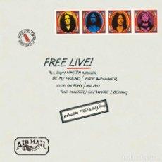 Discos de vinilo: LP FREE LIVE! VINILO PORTADA SOBRE. Lote 164589570