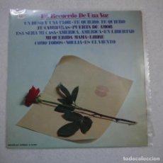 Discos de vinilo: EN RECUERDO DE UNA VOZ - LP 1974 . Lote 164590982