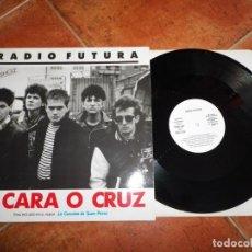 Discos de vinilo: RADIO FUTURA A CARA O CRUZ / 37 GRADOS MAXI SINGLE PROMO 1987 JUAN PERRO 2 TEMAS SANTIAGO AUSERON. Lote 164591474
