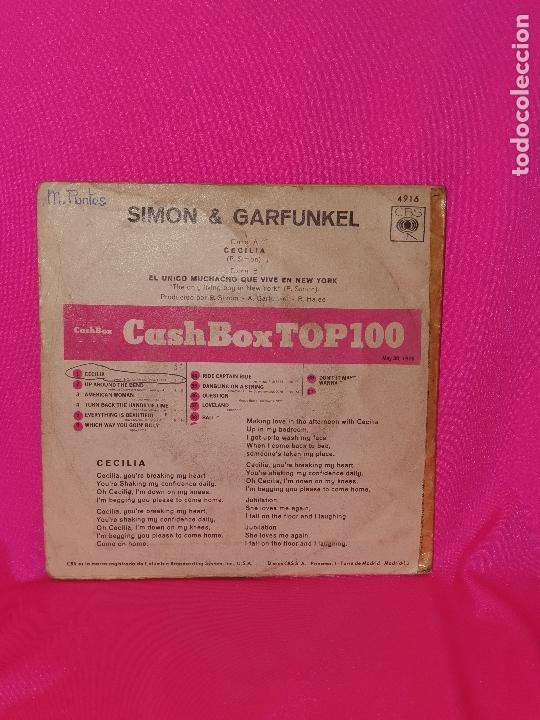 Discos de vinilo: simon y garfunkel - cecilia, el unico muchacho que vive en new york, cbs, 1970. - Foto 2 - 164615418