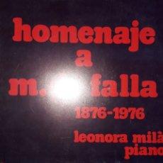 Discos de vinilo: VINILO HOMENAGE A MANUEL DE FALLA. Lote 164629476