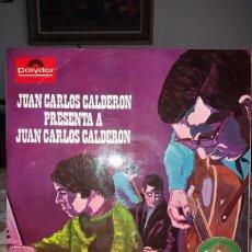 Discos de vinilo: JUAN CARLOS CALDERON PRESENTA A JUAN CARLOS CALDERON, LP. POLYDOR 1968. GRAN PREMIO DEL DISCO .... Lote 164647110