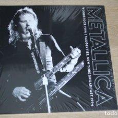 Discos de vinilo: METÁLICA, WOODSTOCK 1994 I SAUGERTIES, NEW YORK BROADCAST 1994, DOBLE LP TRANSPARENTES, PRECINTADO.. Lote 164680870