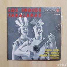 Discos de vinilo: LOS INDIOS TABAJARAS - MARIA ELENA - VALS CRIOLLO - SINGLE - VINILO - RCA - VICTOR - 1964. Lote 164694934