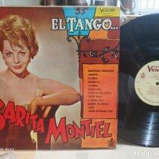 Discos de vinilo: SARITA MONTIEL EL TANGO EDICIÓN VENEZOLANA PRIMEROS AÑOS 60. Lote 164713434