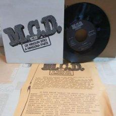 Discos de vinilo: M.C.D. SG. BARRENKALE/ SAL A LA CALLE + HOJA INFO NUEVO A ESTRENAR E. Lote 164718278