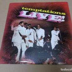 Discos de vinilo: THE TEMPTATIONS (LP) LIVE AÑO 1974. Lote 164727830