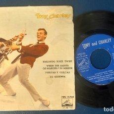 Discos de vinilo: DISCO SINGLE TONY AND CHARLEY ?– BAILANDO ROCK TWIST AÑO 1962 (VER FOTOS). Lote 164730710