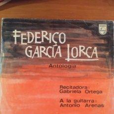 Discos de vinilo: GABRIELA ORTEGA- FEDERICO GARCÍA LORCA. ANTOLOGÍA. Lote 164740946