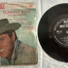 Discos de vinilo: DISCO SINGLE-ELVIS PRESLEY / FLAMING STAR + 3 - AÑO 1961. Lote 164745022
