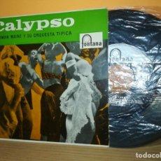 Discos de vinilo: NORMAN MAINE ORQUESTA CALYPSO CO CO/ME GUSTA LA VIDA TRANQUILA/RON Y COCACOLA +1 EP 1958 SPAIN LATIN. Lote 164753318