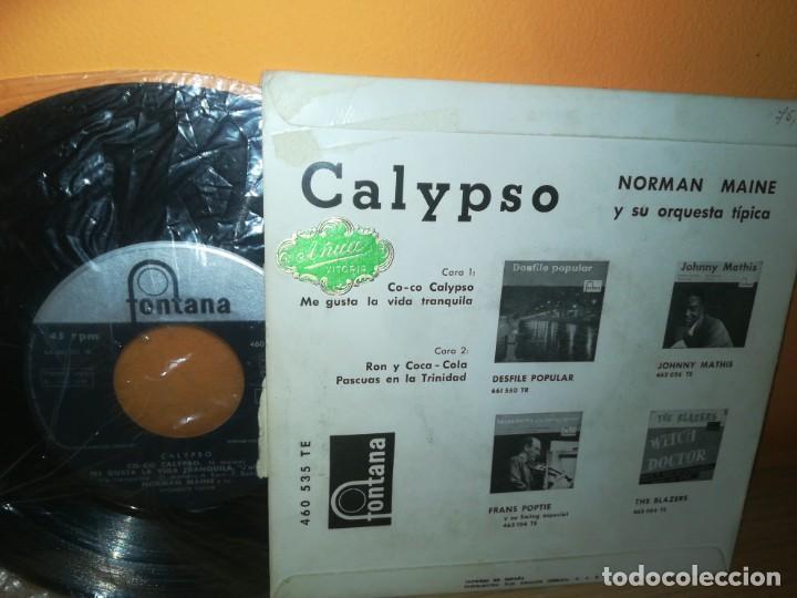 Discos de vinilo: NORMAN MAINE ORQUESTA Calypso Co co/Me gusta la vida tranquila/Ron y CocaCola +1 EP 1958 SPAIN LATIN - Foto 2 - 164753318