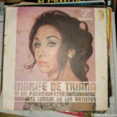 Discos de vinilo: MARIFE DE TRIANA - NI UN PADRENUESTRO. Lote 164771716