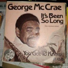 Discos de vinilo: GEORGE MC CRAE - IT'S BEEN SO LONG. Lote 164771849