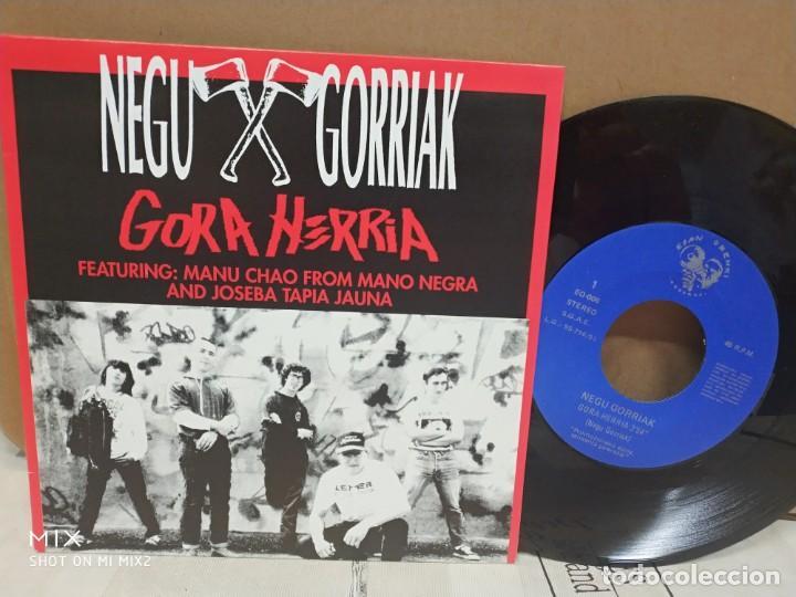 NEGU GORRIAK/ GORA HERRIA 1991 NUEVO A ESTRENAR PROMOCIONAL (Música - Discos - Singles Vinilo - Grupos Españoles de los 90 a la actualidad)