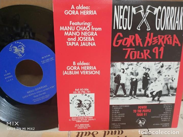 Discos de vinilo: NEGU GORRIAK/ GORA HERRIA 1991 NUEVO A ESTRENAR PROMOCIONAL - Foto 2 - 206788488