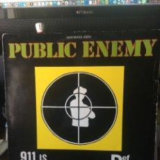 Discos de vinilo: PUBLIC ENEMY-911 IS A JOKE-1990. Lote 199344545