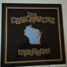 Discos de vinilo: THE CRUCIFUCKS- WISCONSIN - UK LP 1987 - BLUE VINYL- EXC. ESTADO.. Lote 164786734