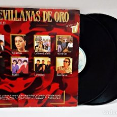 Discos de vinilo: DISCO DE VINILO LP DOBLE SEVILLANAS DE ORO VOL 19. Lote 164792766