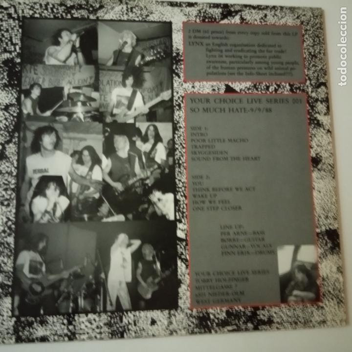 Discos de vinilo: SO MUCH HATE- YOUR CHOICE LIVE SERIES - GERMAN MAXI 1988 + 2 ENCARTE- EXC. ESTADO - Foto 2 - 164796298