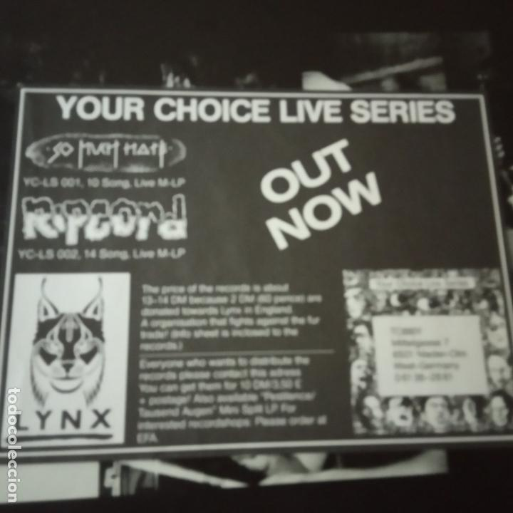 Discos de vinilo: SO MUCH HATE- YOUR CHOICE LIVE SERIES - GERMAN MAXI 1988 + 2 ENCARTE- EXC. ESTADO - Foto 3 - 164796298