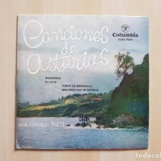 Discos de vinilo: CANCIONES DE ASTURIAS - JOSE GONZALEZ - PRESI - SINGLE - VINILO - COLUMBIA - 1962. Lote 164798870