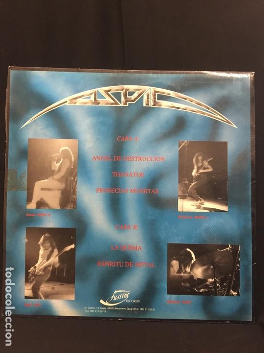Discos de vinilo: ASPID - heavy - Original - LP - Oscura Reflexión - Contiene encarte. Portada Karl. Dificilisimo - Foto 6 - 164807022