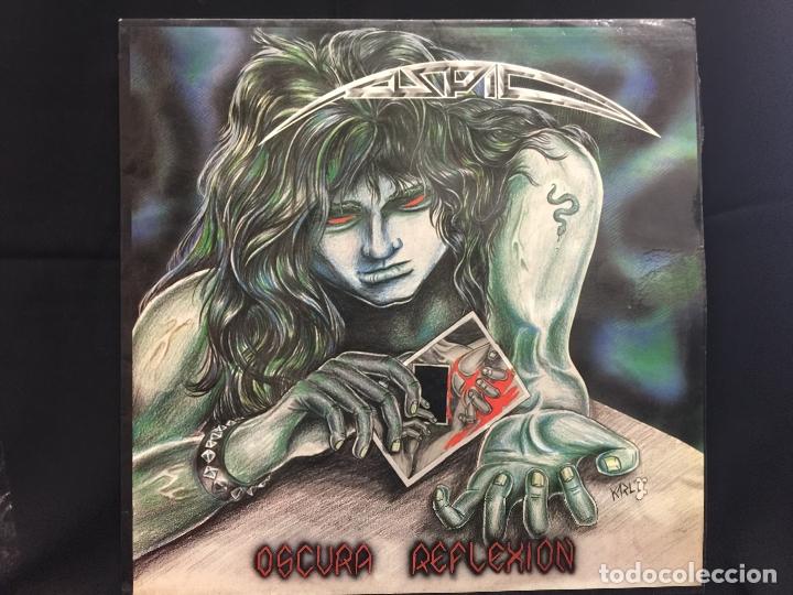 Discos de vinilo: ASPID - heavy - Original - LP - Oscura Reflexión - Contiene encarte. Portada Karl. Dificilisimo - Foto 8 - 164807022