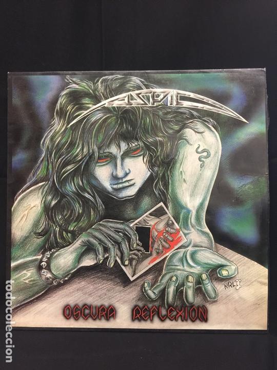 Discos de vinilo: ASPID - heavy - Original - LP - Oscura Reflexión - Contiene encarte. Portada Karl. Dificilisimo - Foto 9 - 164807022
