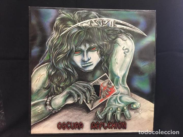 ASPID - HEAVY - ORIGINAL - LP - OSCURA REFLEXIÓN - CONTIENE ENCARTE. PORTADA KARL. DIFICILISIMO (Música - Discos - LP Vinilo - Heavy - Metal)