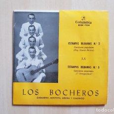 Discos de vinilo: LOS BOCHEROS - ESTAMPAS BILBAINAS Nº2 Y Nº3 - GARAMENDI - SINGLE - VINILO - COLUMBIA - 1967. Lote 164807834