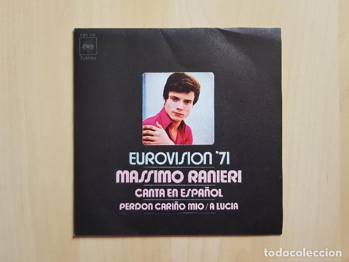 EUROVISION 71 - MASSIMO RANIERI - CANTA EN ESPAÑOL - SINGLE - VINILO - CBS - 1971 (Música - Discos - Singles Vinilo - Festival de Eurovisión)