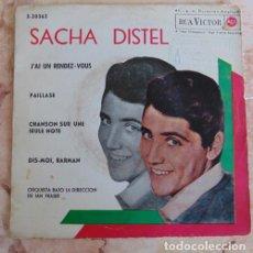 Discos de vinilo: SACHA DISTEL - J'AI UN RENDEZVOUS + 3 - EP. Lote 164811282