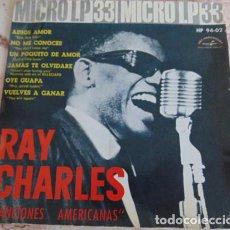 Discos de vinilo: RAY CHARLES – CANCIONES AMERICANAS - EP DE 6 TEMAS. Lote 164811598