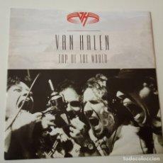 Discos de vinilo: VAN HALEN- TOP OF THE WORLD - EUROPE SINGLE 1991- COMO NUEVO.. Lote 164819262
