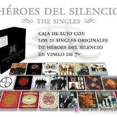Discos de vinilo: CAJA LUJO HEROES DEL SILENCIO * 21 SINGLES VINILO * BOX PRECINTADA. Lote 182400061