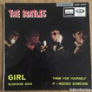 Discos de vinilo: THE BEATLES GIRL EP RARA EDICION DOBLE REFERENCIA LABEL AZUL OSCURO. Lote 164827986