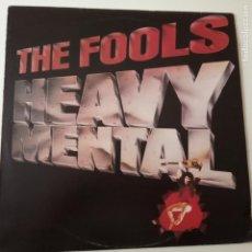 Discos de vinilo: THE FOOLS- HEAVY MENTAL- SPAIN PROMO LP 1981- VINILO COMO NUEVO.. Lote 164829938