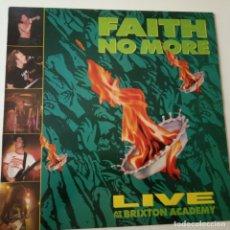 Discos de vinilo: FAITH NO MORE- LIVE AT THE BRIXTON ACADEMY- UK LP 1991- COMO NUEVO.. Lote 164832006
